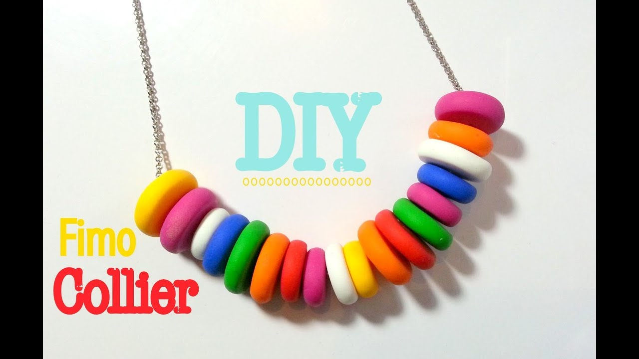 Comment faire collier en pate fimo