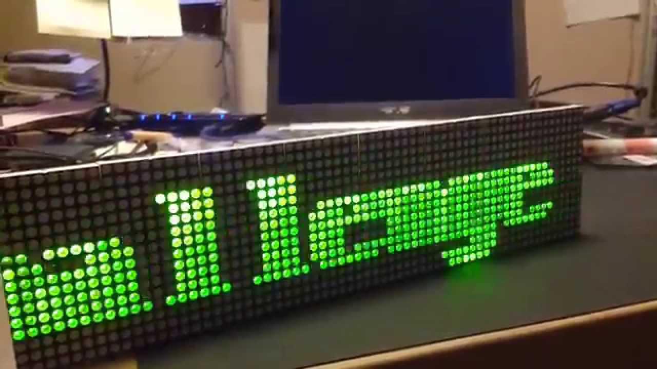 Arduino LED Matrix 16x64