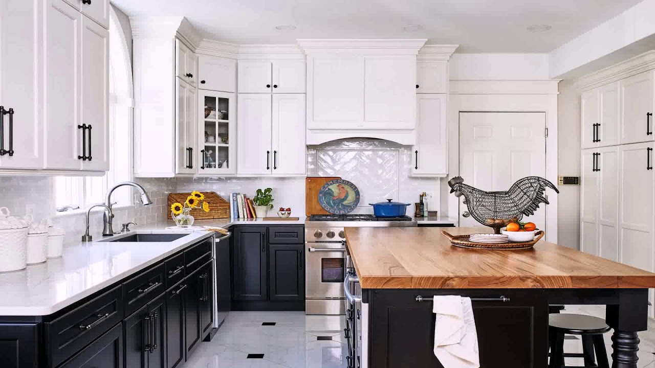 White Kitchen Cabinets With Porcelain Tile Floor Youtube