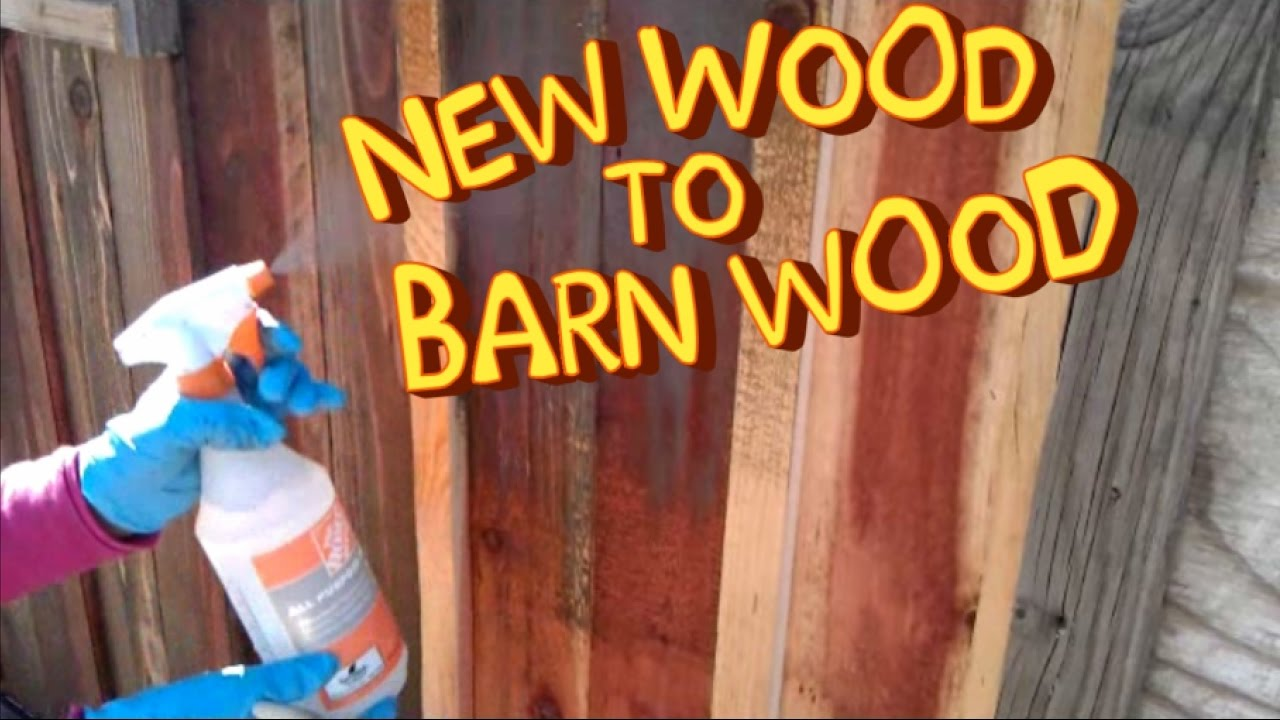 Make New Wood Look Like Old Rusting Metal With Acid YouTube