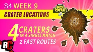 Fortnite Leaked Challenge 4 CRATERS in a Match (Closest Craters + Shortest Ways to Find All Craters)