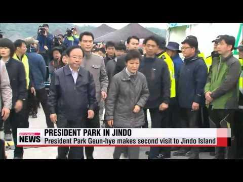 President Park Geun hye makes second visit to Jindo island