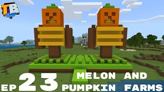 Lego Build For My Melon And Pumpkin Farm - Truly Bedrock Season 2 Minecraft SMP Episode 23