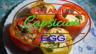 Steamed Stuffed Capsicum Egg (healthy diet)
