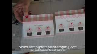 Simply Simple FLASH CARD 2.0 Cupcake Store Front by Connie Stewart