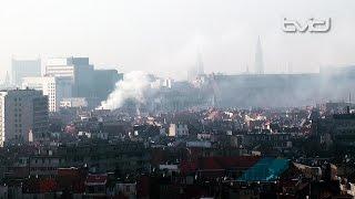 Rookpluim door brand te zien boven Antwerpen