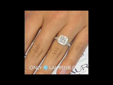 1.27 ct Princess Cut Diamond Engagement Ring