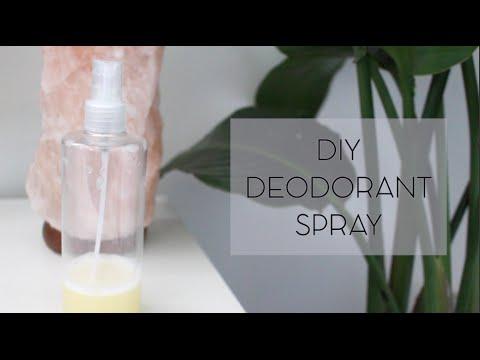how to make natural deodorant spray