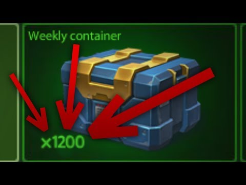 Tanki Online - Opening 1200 Weekly Containers |  танки Онлайн