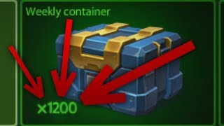 Tanki Online - Opening 1200 Weekly Containers  танки Онлайн