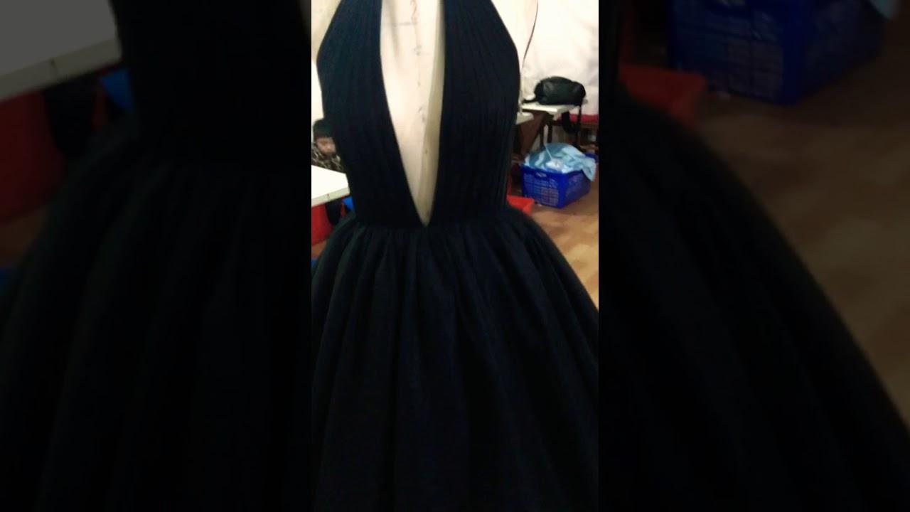 black ball gown prom dresses via alinanova.com - YouTube