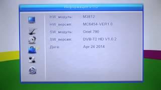 Проверка текущей версии ПО в Oriel 790