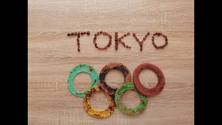 Tokyo 2020 Olympics (2021) rings from pancakes - Bloopers at the end