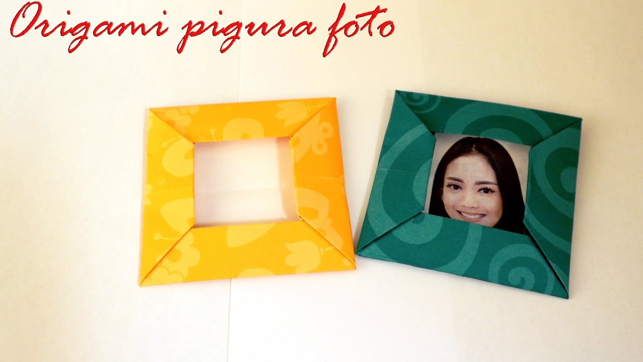 Membuat Pigura Dari Kertas Origami Origami Photo Frame Youtube