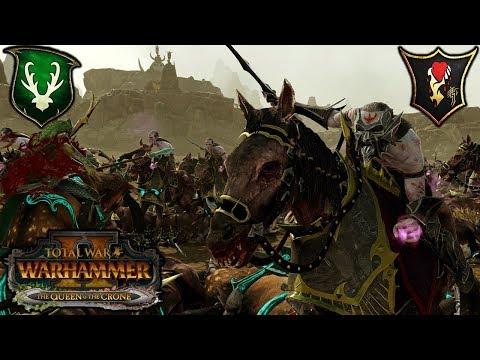 WAYWATCHING HELLEBRON  Wood Elves vs Dark Elves  Total War Warhammer 2 Gameplay