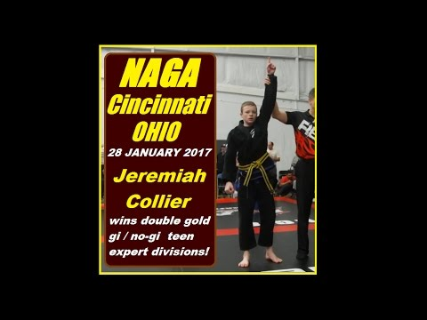 Jeremiah Collier wins double gold at NAGA Cincinnati, Ohio / 28 Jan. 2017