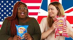 American & British People Swap Snacks