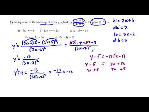 AB Calculus 1st Semester Final 2017 Version