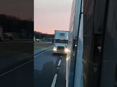 Out of control YRC Freight truck driver