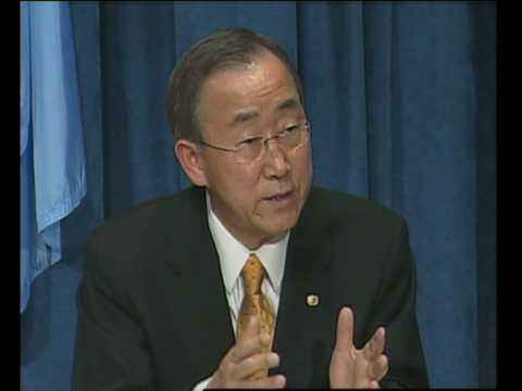 MaximsNewsNetwork: KOREAN SHIP SINKING - UN's BAN KI-MOON (UNTV)