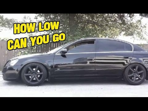 Altima Slammed n Stanced on D2 Racing Coilovers - YouTube