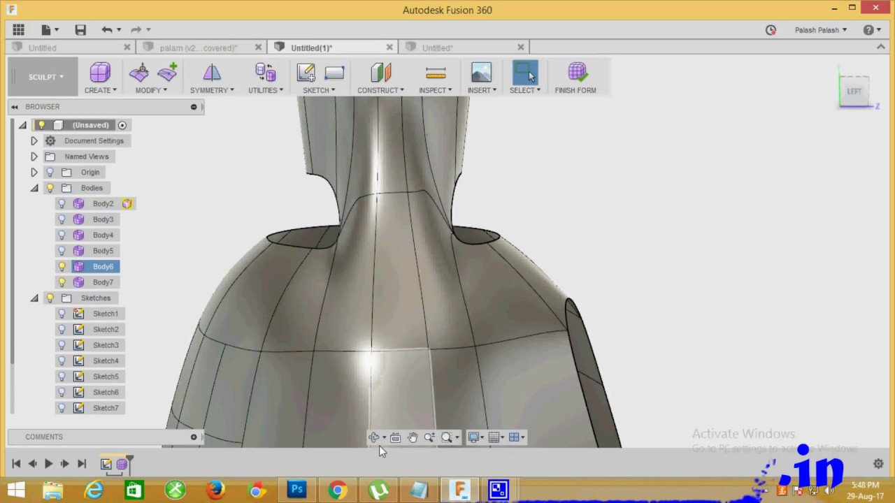 How To Create A T Spline Merge Object In Fusion 360 Youtube