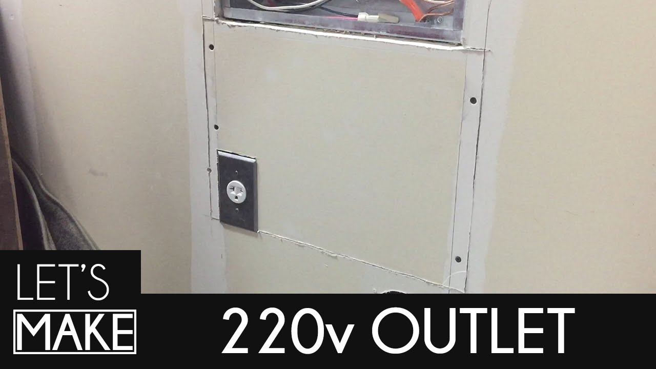 How To Install A 220v Outlet Youtube 240v Plug Wiring