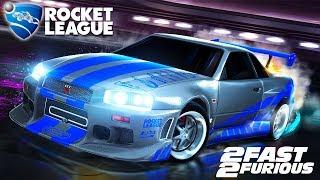 Rocket League - Novo Carro NISSAN SKYLINE Da DLC Fast And Furious