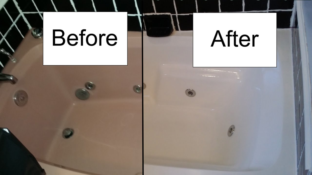 How to refinish a bathtub with Rustoleum Tub and Tile kit - YouTube