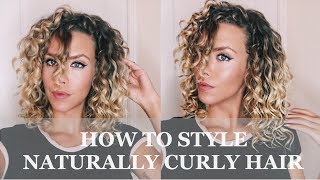 How To Style Your Naturally Curly Hair- Deva Curl Tutorial