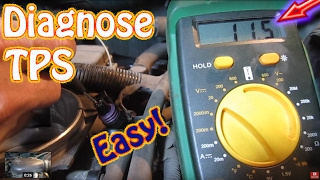 How to Test a Throttle Position Sensor - DIY TPS Diagnostic Procedure Chevy Blazer
