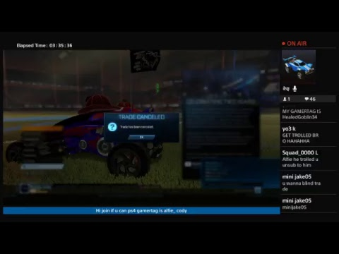 Ps4 ROCKET league LIVE + TRADES AND PLAYING WITH SUBS
