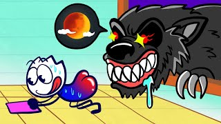 A Werewolf's Meal - Pencilanimation Funny Animation Video