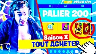 I BUY ALL THE COMBAT PASS SAISON 10 FORTNITE!
