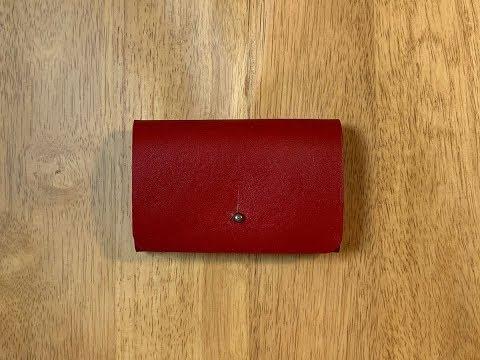 [가죽공예 leathercraft] 심플 카드지갑 만들기 Making a simple cardcase