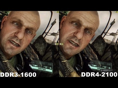 DDR4 vs DDR3 in Crysis3 (390x+i7-6700)