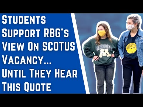 Students support RBG's view on filling SCOTUS vacancy…until hearing what she said in 2016
