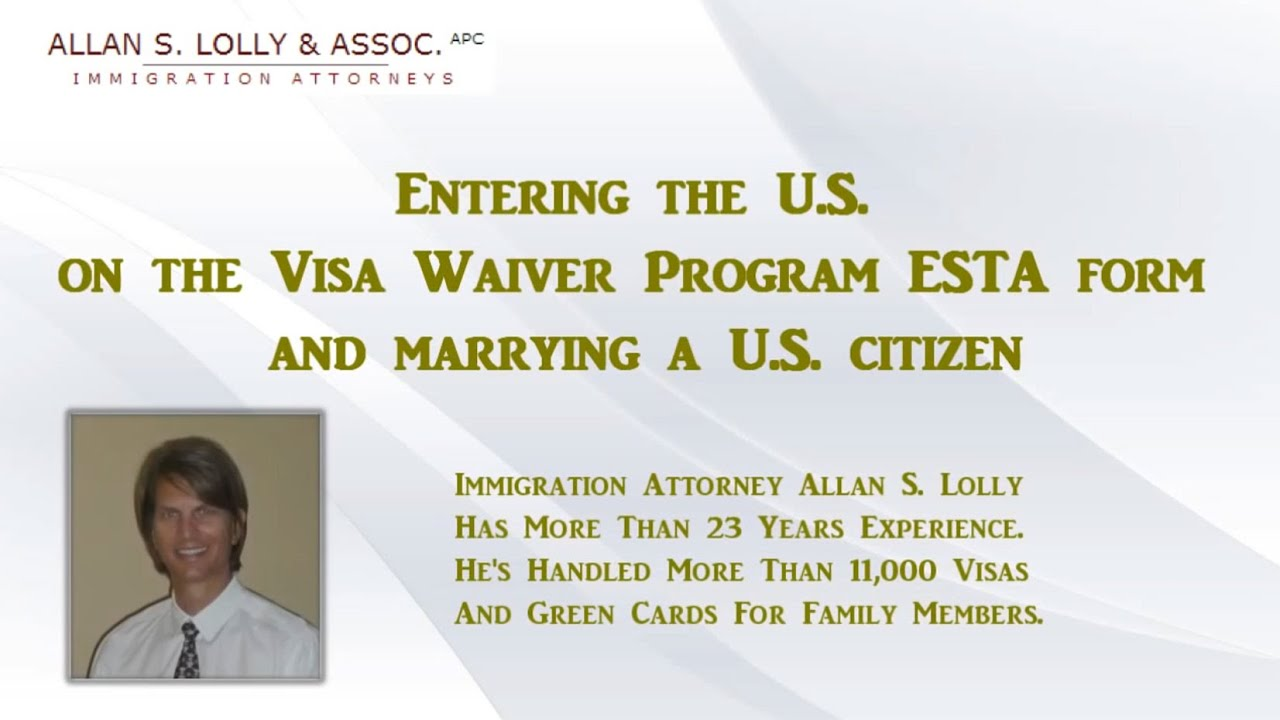 Marrying a us citizen visa