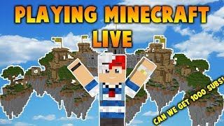 🔴 LIVE MINECRAFT - Hypixel KOTH, Skywars, And MORE! | Playing With Viewers - 1,000 Sub goal