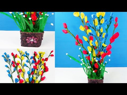 How To Make Beautiful Flower Stick with shopping Bag   DIY Shopping Bags Flower   DIY Craft Ideas