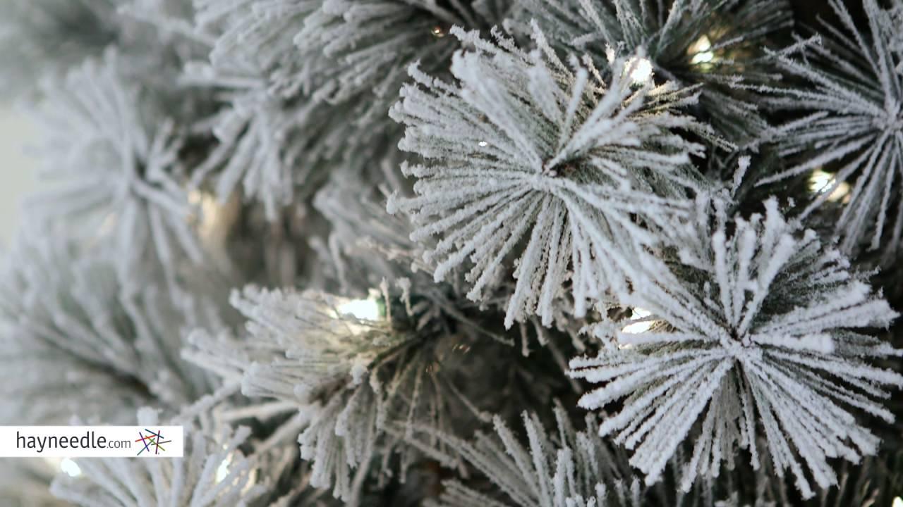 Belham Living 7.5 Ft. Pre-Lit Flocked Pine Needle Full