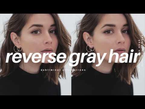 How to Reverse Gray Hair Fast & Naturally Subliminal | Anti Aging Formula!