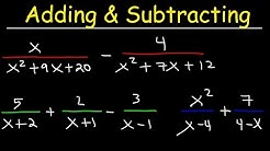 Adding and Subtracting Rational Expressions With Unlike Denominators