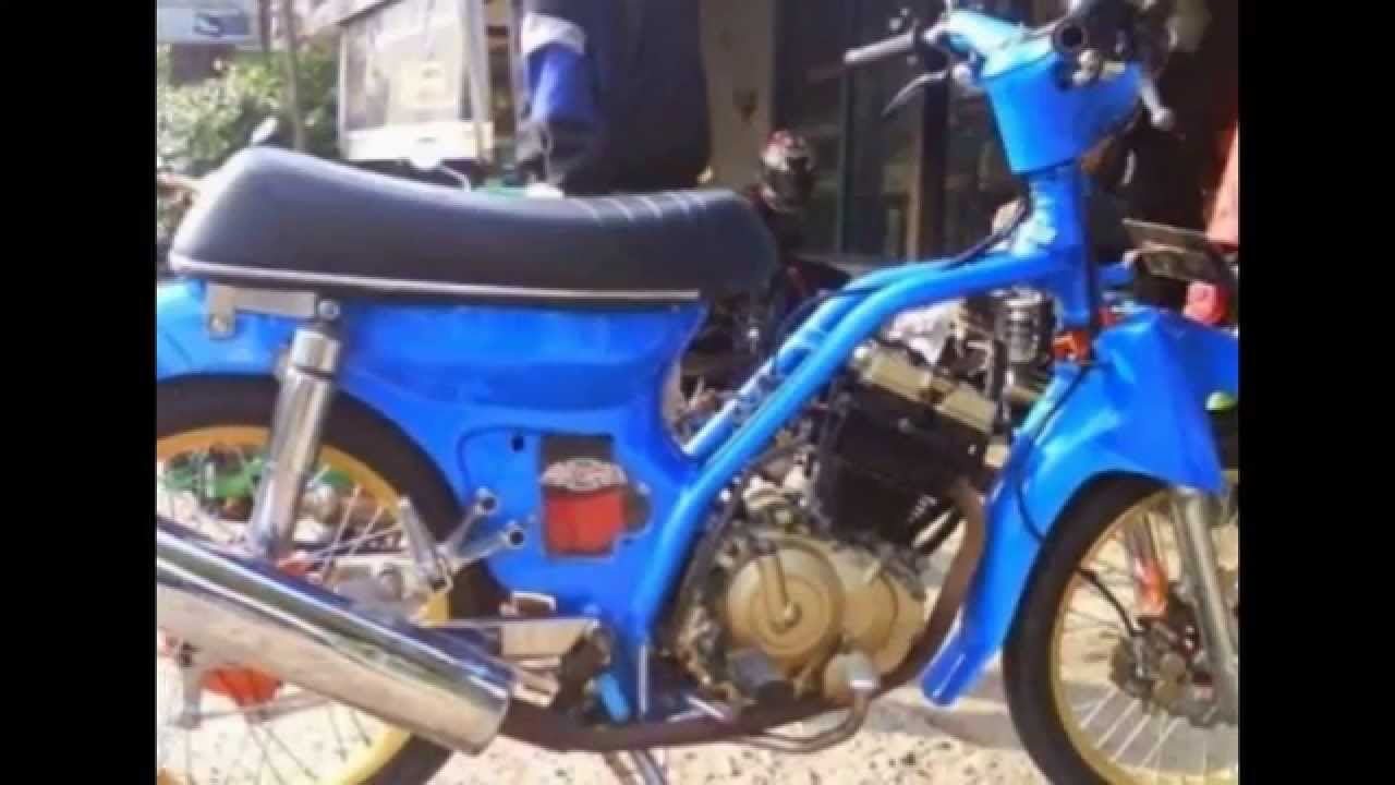 Modifikasi Sepeda Motor Classic Honda C70 Modif Engine Suzuki Satria