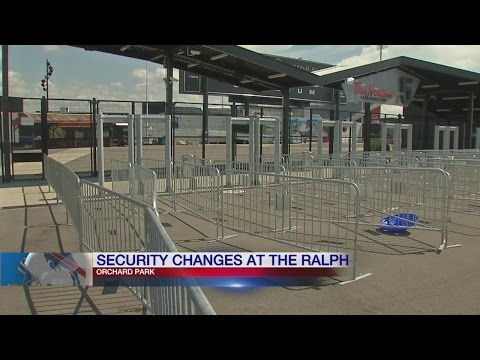 Game day security changes at Ralph Wilson Stadium