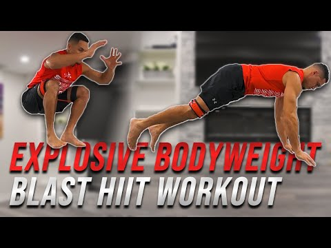 EXPLOSIVE BODYWEIGHT BLAST HIIT WORKOUT | No Equipment Needed