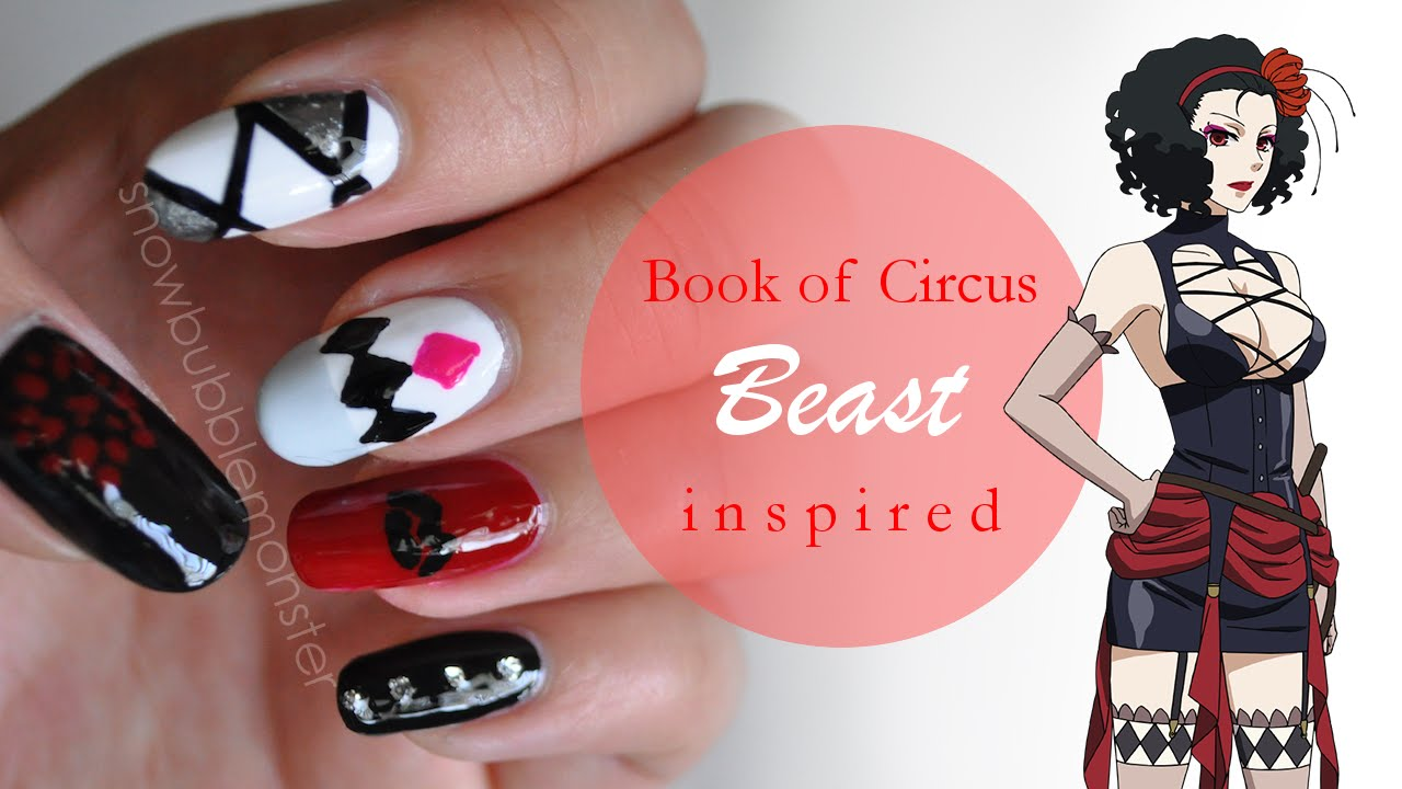 Book of Circus • Beast Inspired Nails | snowbubblemonster - YouTube