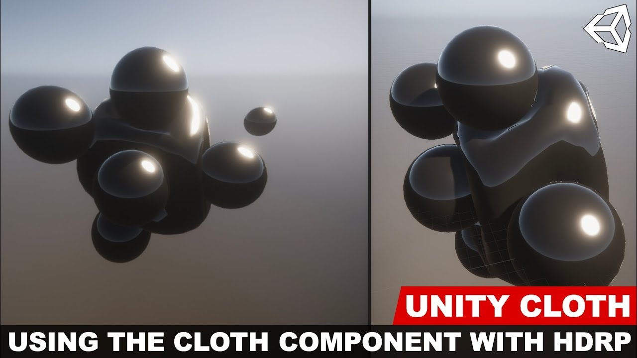 Unity3d Cloth component introduction with the High