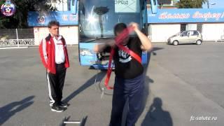 Белгородский силач бросил вызов клубному автобусу ФК