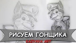 Как нарисовать ГОНЩИКА Чейза из мультфильма Щенячий патруль карандашом/ Kazyava Art